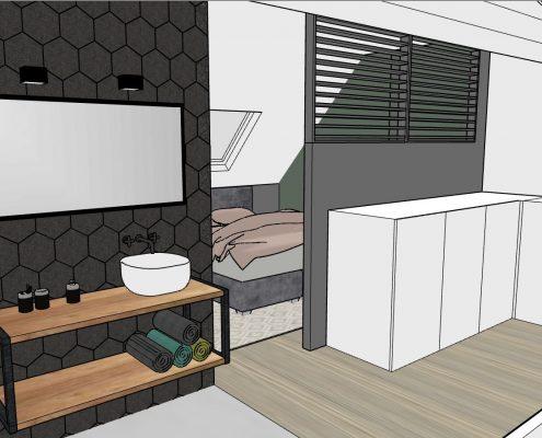 The Restyling Interieuradvies zolder badkamer slaapkamer